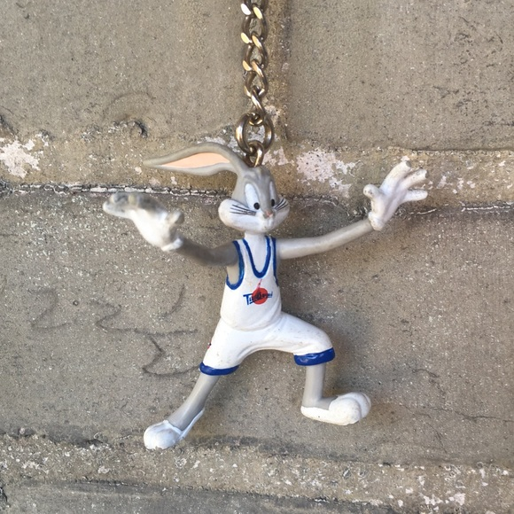 7aeaadfb Vintage Accessories | 90s Space Jam Bugs Bunny Tune Squad Keychain ...